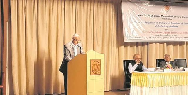 Justice Deepak Gupta: 'Criticism of government, army & judiciary can't be construed as sedition'