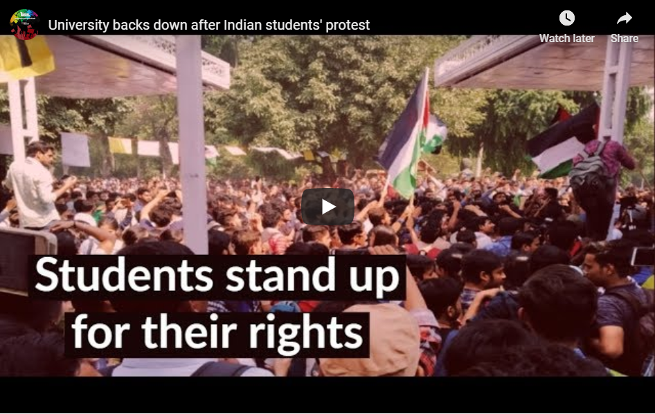 University backs down after Indian students' protest