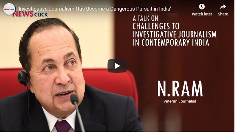 """Investigative Journalism Has Become a Dangerous Pursuit in India"""