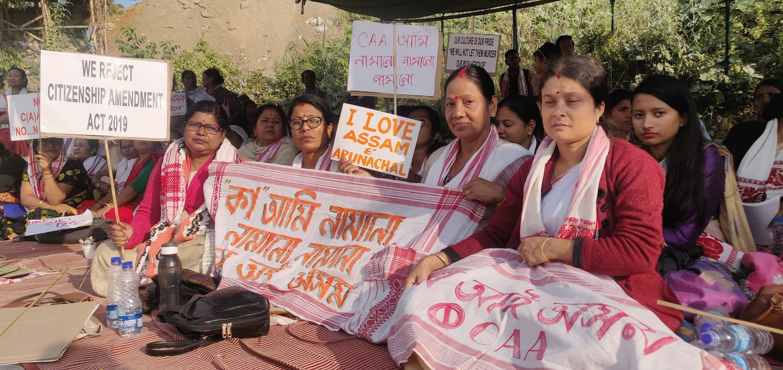 North East protests against CAA with dharnas and songs