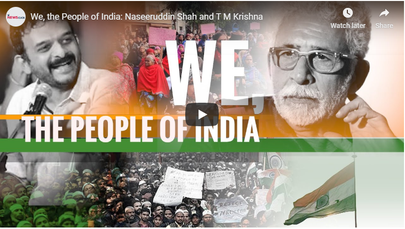 We, the People of India: Naseeruddin Shah and T M Krishna