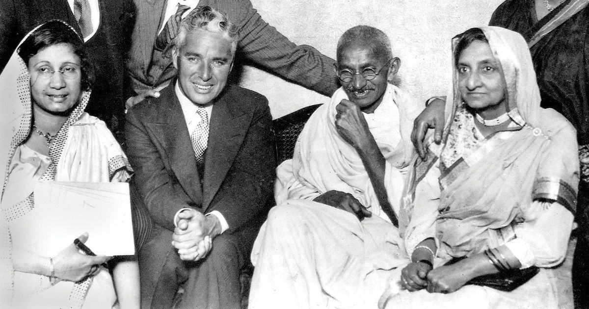 Gandhi inspired Charlie Chaplin to make his classic movie <em>Modern Times</em>