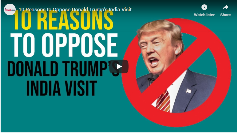 10 reasons to oppose Donald Trump's India visit